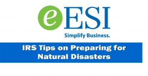 Aug1 - IRS Tips on Preparing for Natural Disaster FB-TW