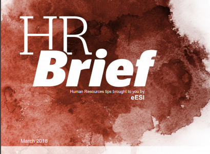 eESI March HR Brief News for Human Resource Professionals